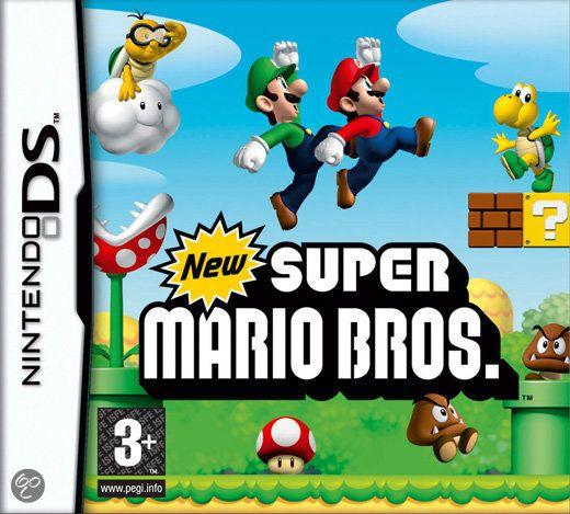New Super Mario Bros  Super Mario is terug om een geheel nieuw avontuur te beleven, gebouwd op de fundamenten van zijn roemrijke verleden. In het eerste 2D-avontuur van Super Mario sinds Super Mario World smelten oude en nieuwe spelelementen naadloos samen.