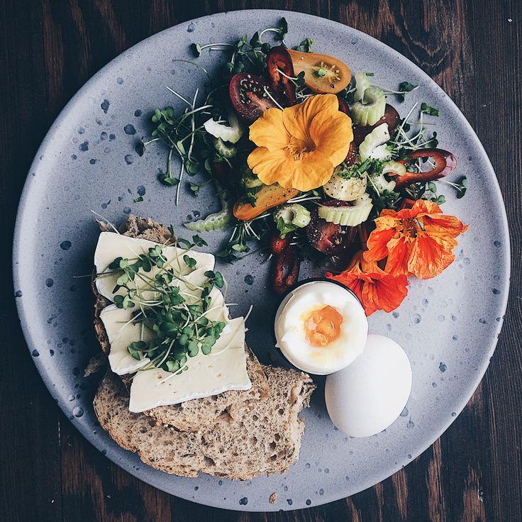 nasturtium salad & microgreens with brie