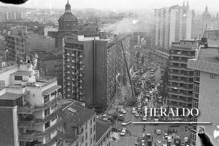 Incendio Hotel Corona de Aragón en Zaragoza 12 Julio 1979
