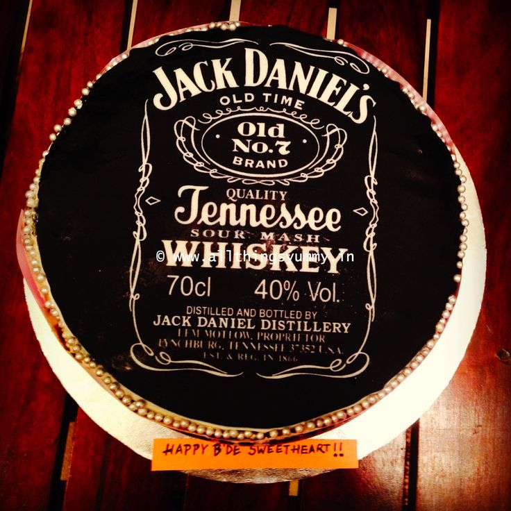 Birthday Cakes for Boys - For a Jjack Daniels fan... a #birthday #gift from the wife... Flavour: Chocolate fudge dipped in kahlua and iced with #baileys irishcream buttercream!