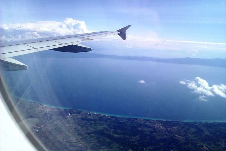 Photo by Thanos Mp, flying over Chalkidiki (thank you!)
