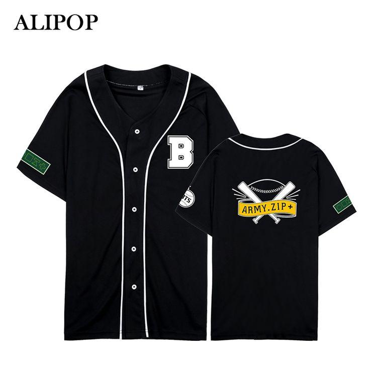 ALIPOP Kpop Korean Fashion BTS Bangtan Boys THE WINGS TOUR Album Cotton Cardigan Tshirt K-POP Button T Shirts T-shirt PT343