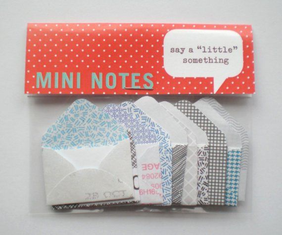Tiny envelopes packaged
