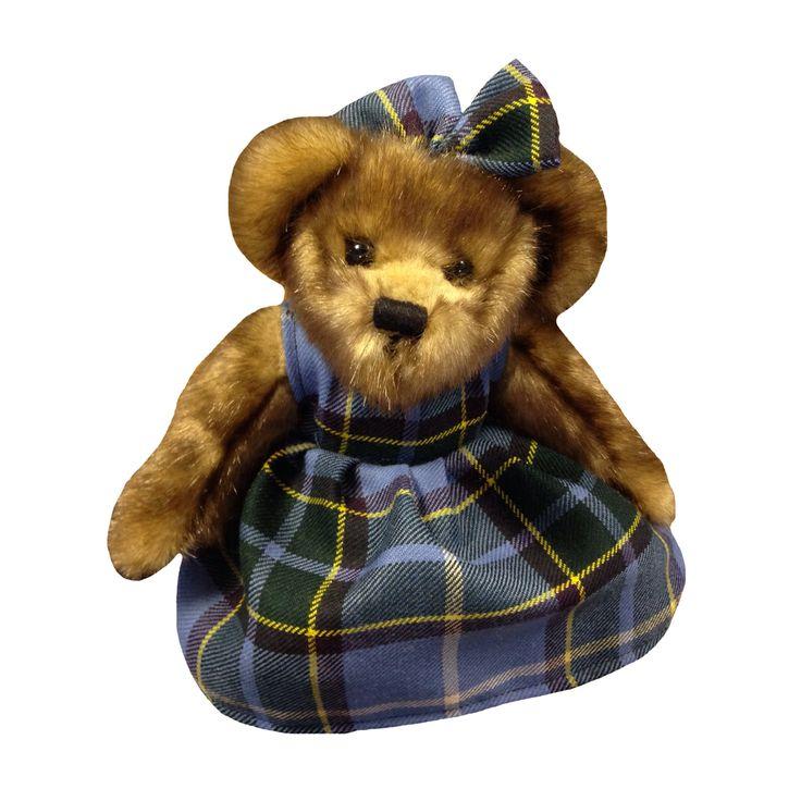 Lovely Manx bear wearing Laxey Manx Tartan