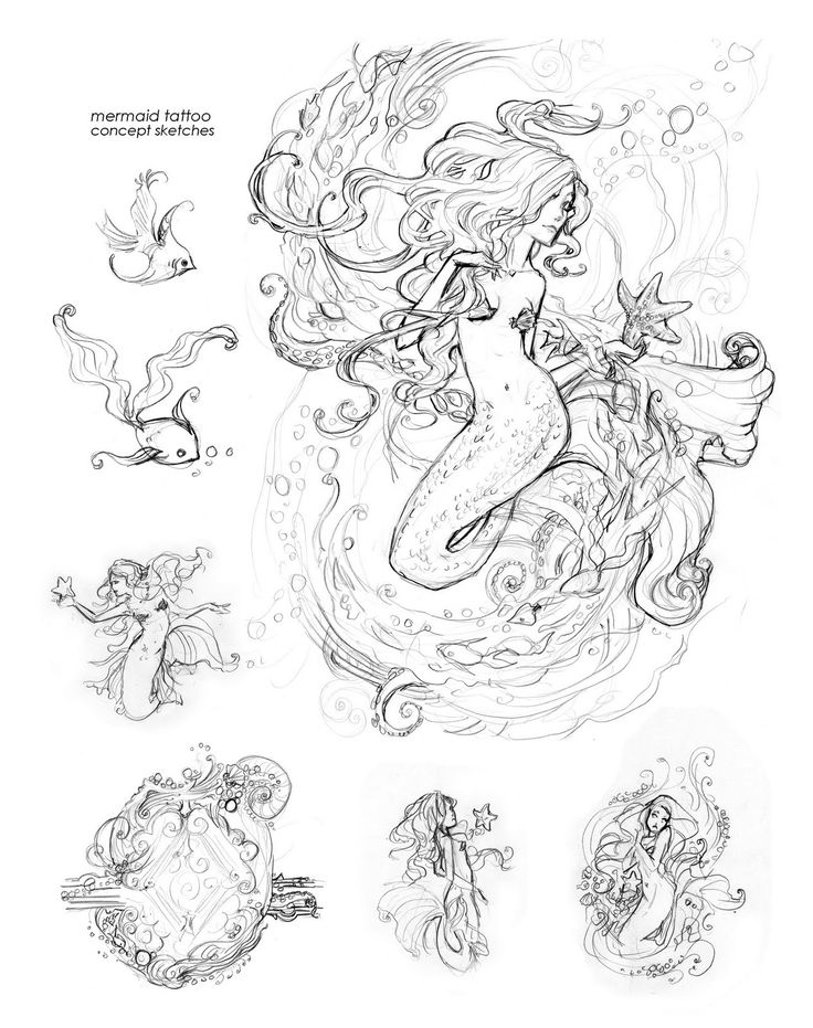 mermaid tattoo ... LOVE