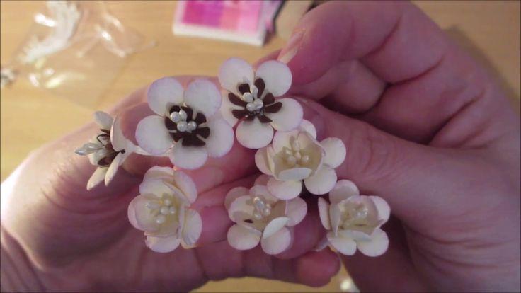 Kwiaty z papierów - kwiat wiśni, tutorial