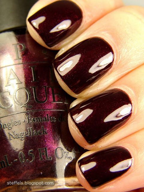 OPI Black Cherry Chutney. Love this color. (i just found this color in my nail bin tonight...will have to wear it this fall!)