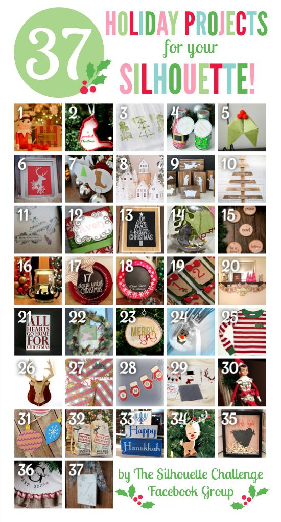 37 Holiday Inspired Projects for Your Silhouette | My Silhouette Challenge buddies and I are all sharing projects on our blogs today, so peruse the projects within for a wealth of Silhouette inspiration!