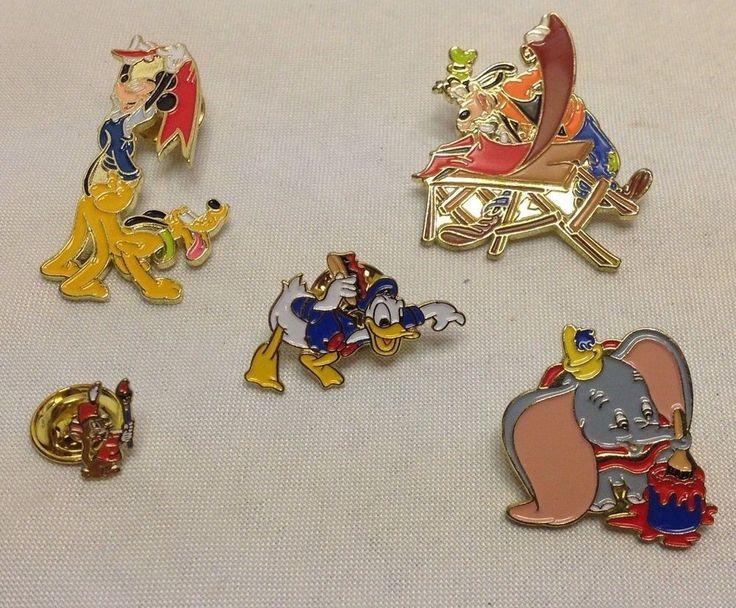 Disney Cast Member Exclusive Character Pins Mickey Dumbo Pluto Goofy Donald Duck #Disney