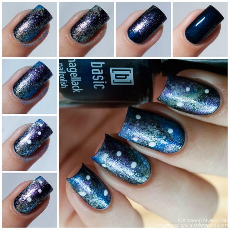 Galaxy nails для конкурса в сообществе Nail Polish Mania.