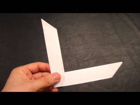 Origami Boomerang - FUN! Just made one. Use this for a side activity at a range?