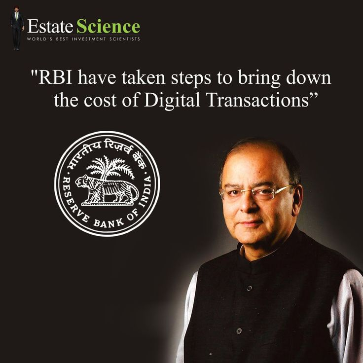 With an aim to move towards a #cashless economy, #FinanceMinister #ArunJaitley said the #government and the Reserve Bank are taking measures to reduce the digital transaction cost. #RBI #EstateScience