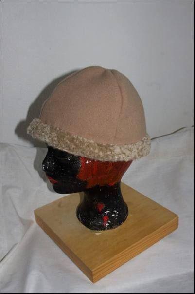 Birka hat with belt from lamb fur
