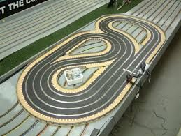 Image result for wood routed slot car track for sale