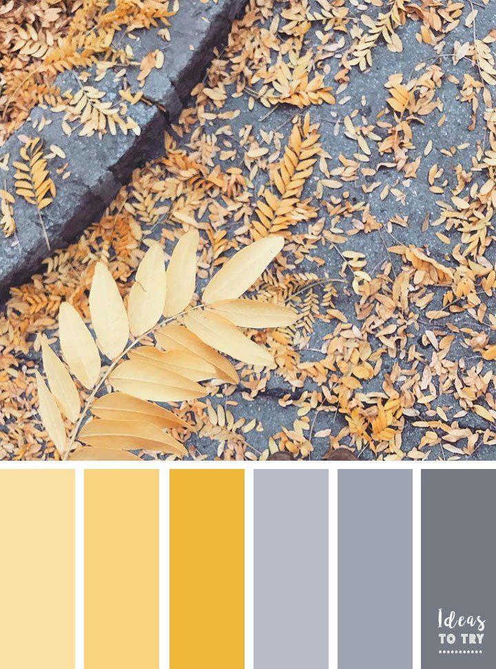 Autumn color palette,Grey and yellow color inspiration ,color palette,color scheme