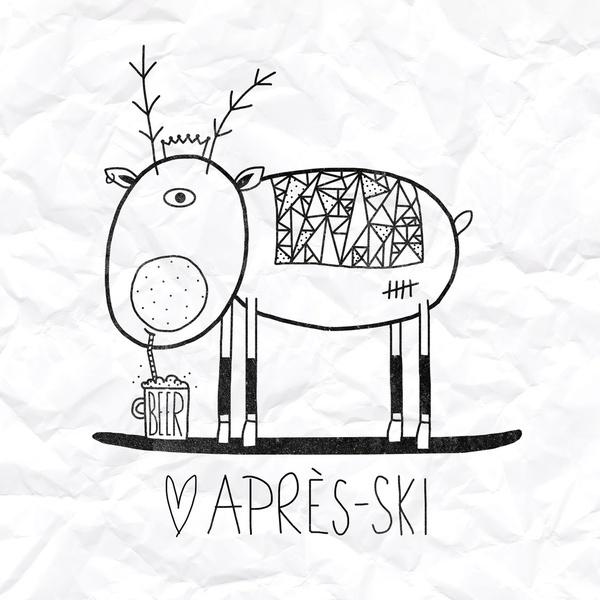après ski:  Art Print /Illustration | artist / Künstler: Farnell |