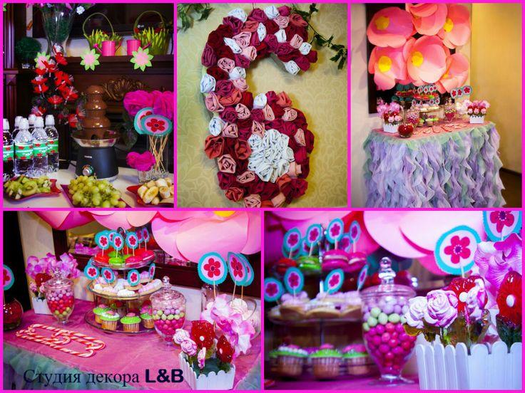 Праздник в цветочном стиле Бал цветов Гигантские цветы flowers party ideas