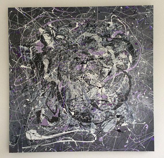 Large Original Abstract painting mixed mediums Acrylic