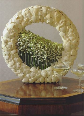 Wreath with egg scales and flowers ~.Annick van Wesemael