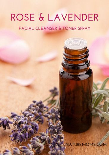 DIY Rose Lavender Facial Cleanser and Toner Spray