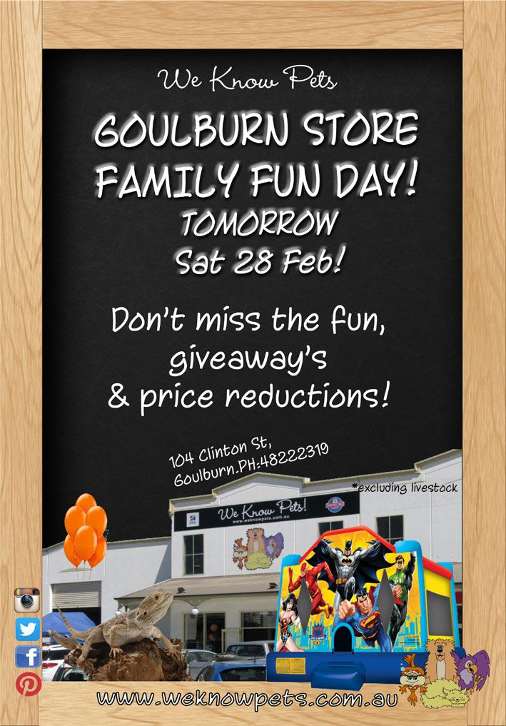 Our Family Fun day in our Goulburn store. #goulburn #weknowpets #familyfunday