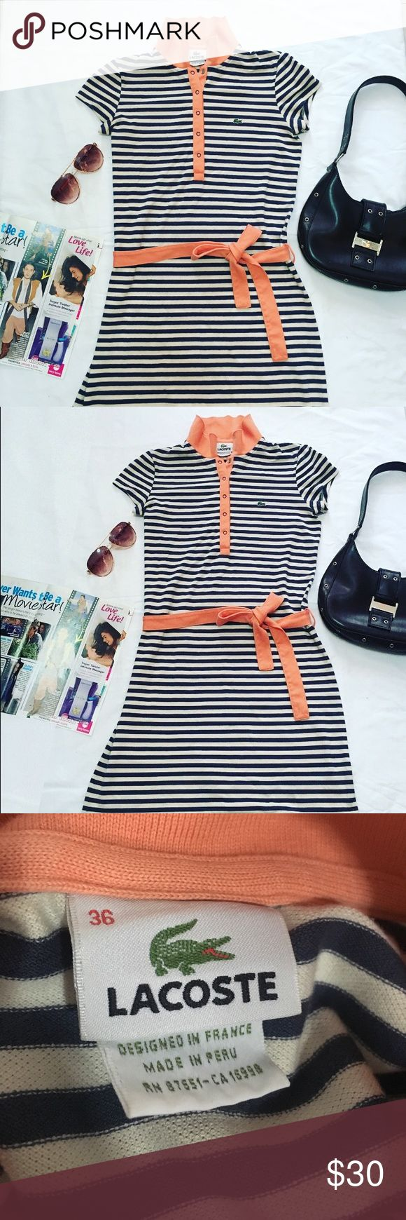 Cute Lacoste Striped Button Down Dress 🐊 In good condition Lacoste Dresses Maxi