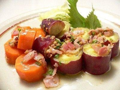 炊飯器で作る、薩摩芋と人参のホットサラダ