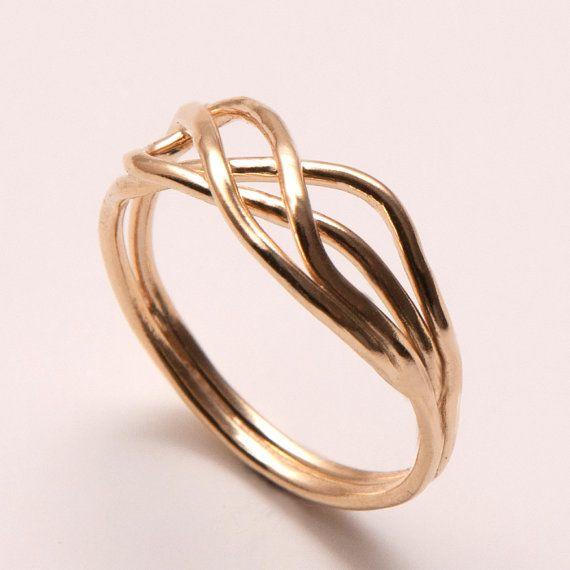 Anillo infinito  14 k oro anillo anillo de nudo por doronmerav, $260.00