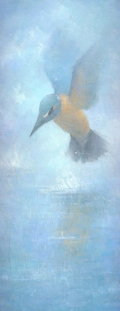 Flame in the Mist Ethereal Kingfisher by stevemitchellprints