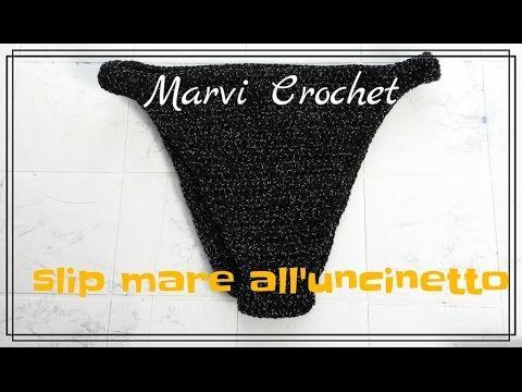 Tutorial bikini all'uncinetto, crochet bikini top - YouTube