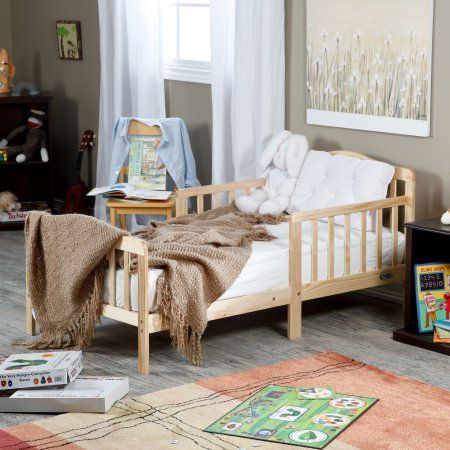 The Orbelle Contemporary Solid Wood Toddler Bed - Natural $62
