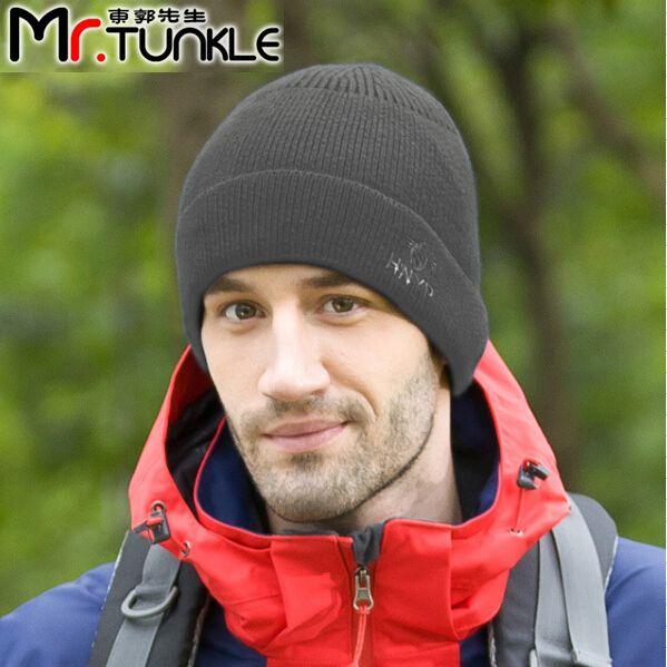 Мужская зимняя шапка Набор головкой Человек шляпа Человек лыжи Мужчина согреться защиты шляпы бренд Человек осень шляпы Вязать шерстяные шляпы Горячие