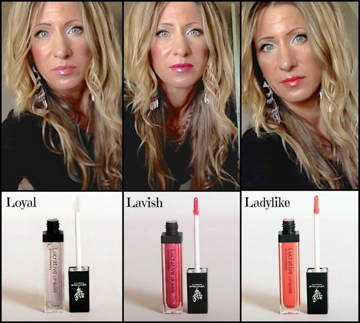 Younique Lipgloss-Flaunt your assets! Pout, pucker, or smile -- it's all good! You bring the attitude; we'll bring the shine! Lucrative Lip Gloss brings a whole new meaning to top-of-the-line lip service! Ten colors available: Lavish, Loyal, Lovesick, Ladylike, Luxe, Loveable, Luscious, Livid, Lucky, and Lethal www.youshinebright.com