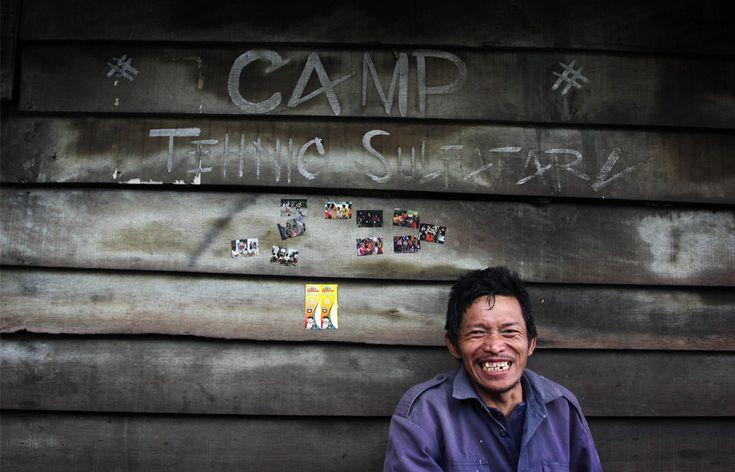 Mina de sulfuro en Indonesia