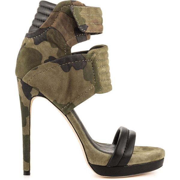 Mia Limited Edition Women's Rocco - Camo Print ($219) ❤ liked on Polyvore featuring shoes, camo shoes, stilettos shoes, multi colored shoes, heels stilettos and camo footwear