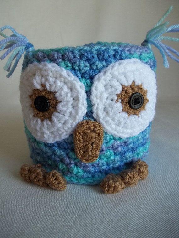 Adorable Owl Toilet Paper Cozy Bathroom by KarensCrochetCottage