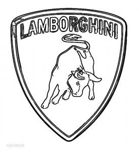 lamborghini logo coloring pages
