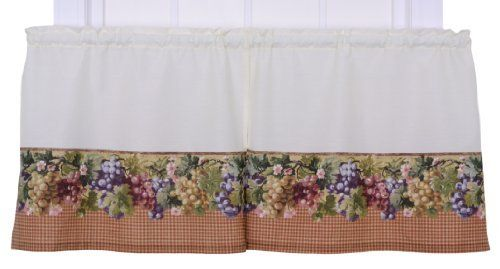 Ellis Curtain Kitchen Collection Tuscan Hills Grapes 60 By