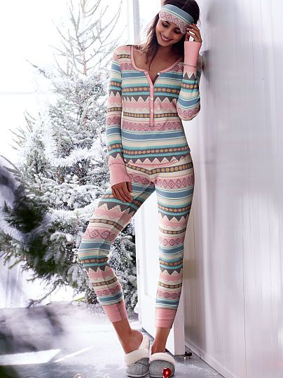 Fireside Long Jane Pajamas--I like thermal PJs because the pants don't ride up while sleeping.