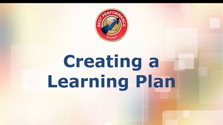 Best Performance Tutorial - Creating a Learning Plan