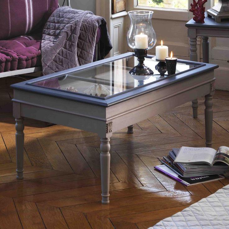 table basse vitrine cottage vintage pinterest. Black Bedroom Furniture Sets. Home Design Ideas
