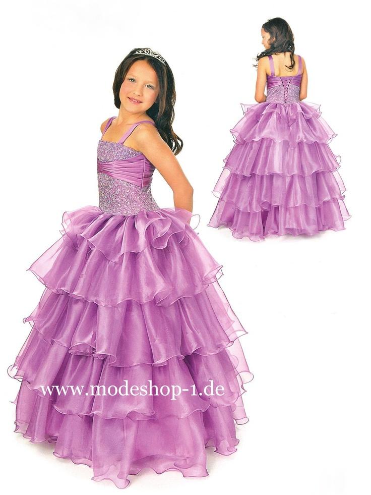 Kinder Mode Mädchenkleid Annemona Lila Flieder Violett  www.modeshop-1.de