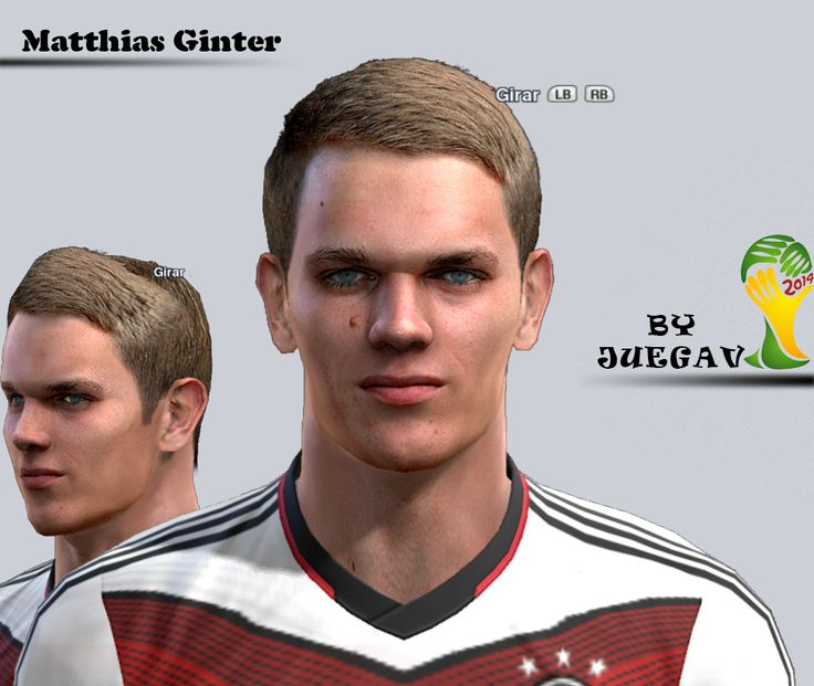 Ginter face for Pro Evolution Soccer 2012