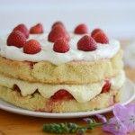 Jordbærlagkage - strawberry layer cake