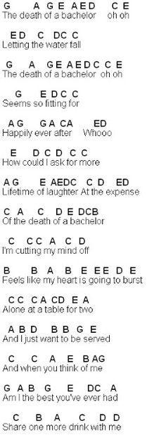 Flute Sheet Music: Death Of A Bachelor