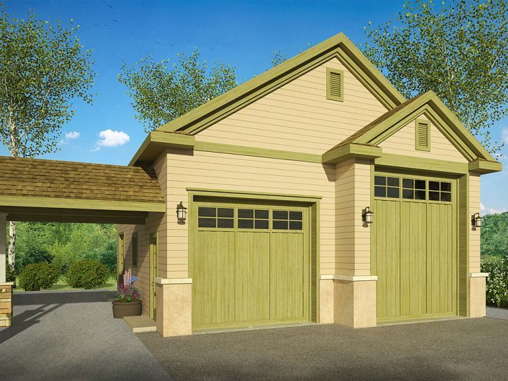 RV Garage Plan, 051G-0080