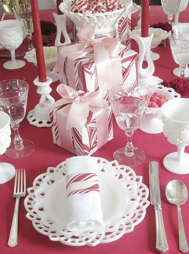 peppermint and milk glass.....LOVE THIS ONE....think I will do this at Christmas