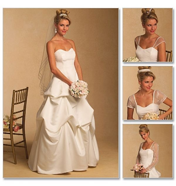 Fresh Butterick sewing pattern misses wedding dress bridal bride sizes