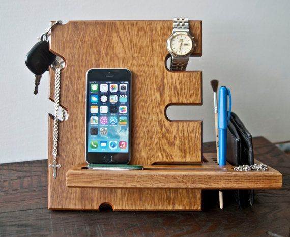 diy phone stand wood charging stations