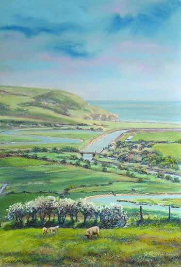 Cuckmere Haven from Frog Firle Farm - East Sussex Art Gallery